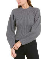 Theory Sculpted Wool Jumper - Gray