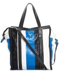 Balenciaga Multicolor Leather Agneau Bazar Shopper Tote - Blue