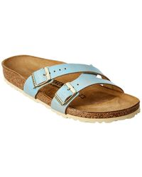 Birkenstock Yao Leather Sandal - Blue