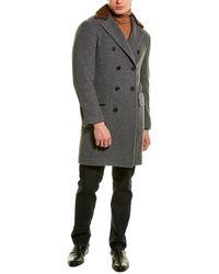 Brunello Cucinelli Double-breasted Cashmere Coat - Multicolour