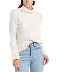Forte Cable-knit Cashmere Pullover - White