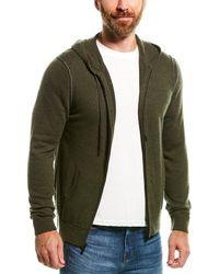 NAADAM Contrast Tipping Wool & Cashmere-blend Hoodie - Green