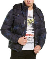 Valentino Camo Coat - Blue