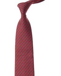 Ferragamo Red Penguins Silk Tie