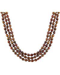 Splendid 5-6mm Freshwater Pearl Endless 72in Necklace - Metallic