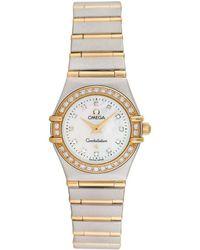 Omega Omega Constellation Diamond Watch, Circa 2000s - Metallic