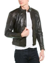 Belstaff Leather Outlaw Jacket - Grey