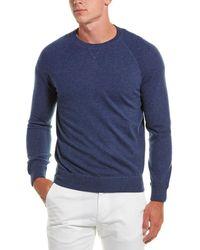 Brunello Cucinelli Cashmere Crew Sweater - Blue