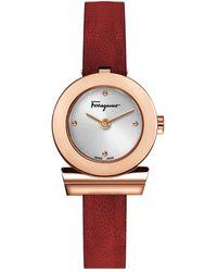 Ferragamo Gancino Strap Watch - Multicolour