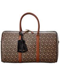 Burberry Patterned Duffel Bag - Brown