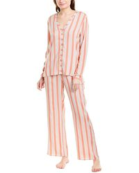 Hanro 2pc Pyjama Pant Set - Pink