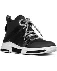 Fitflop Carita High Top Sneaker - Black
