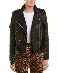 Walter Baker Christin Leather Moto Jacket - Black