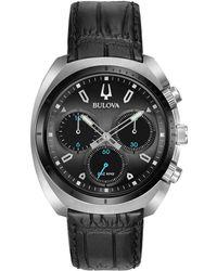 Bulova Men's Leather Watch - Multicolour