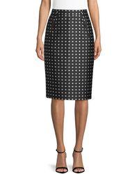 Ralph Lauren Carlton Pencil Skirt - Black