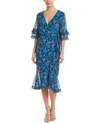 Talulah Floral Wrap Dress - Blue