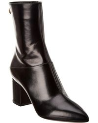 Valentino Garavani Ringstud 70 Leather Bootie - Black
