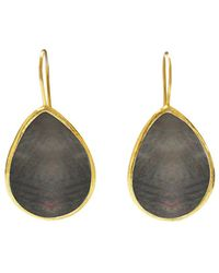 Gabi Rielle 22k Over Silver Mother-of-pearl Drop Earrings - Metallic