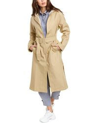 Thakoon Hooded Trench Coat - Natural