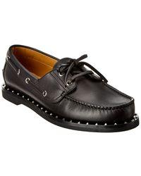 Valentino Leather Loafer - Black