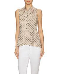 Zoe & Sam - Cotton Insect Print Spread Collar Top - Lyst