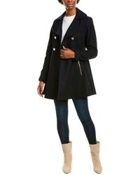Laundry by Shelli Segal Melton Fit & Flare Wool-blend Coat - Black