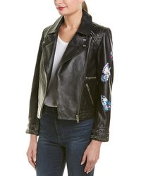 Zadig & Voltaire Kawai Paint Butterfly Leather Jacket - Black