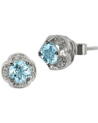 Le Vian - Chocolatier® Sea Blue Aquamarine® And Vanilla Diamonds® Earrings In 14k Vanilla Gold® - Lyst