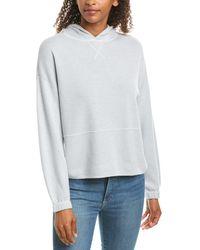ATM Cashmere Blend Hooded Sweatshirt - Blue