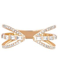 EF Collection - 14k 0.30 Ct. Tw. Diamond Baguette Queen Ring - Lyst