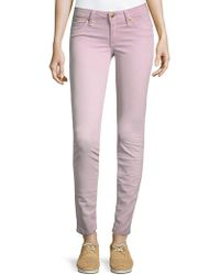 Robin's Jean Embroidered Logo Skinny Jeans - Pink