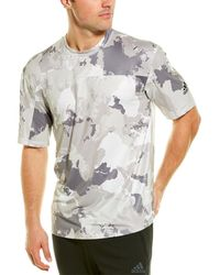 adidas Continent Camo City Performance Fit T-shirt - White
