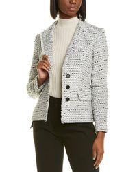 Karl Lagerfeld Tweed Wool-blend Jacket - White