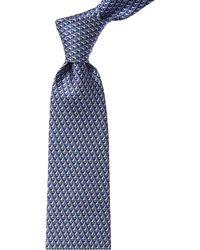 Ferragamo Blue Sail Print Silk Tie