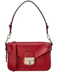 Longchamp Mademoiselle Small Leather Crossbody - Red