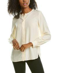 Lafayette 148 New York Jenalee Silk Blouse - White