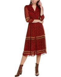 Ba&sh Barie Midi Dress - Red