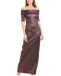 Teri Jon By Rickie Freeman Metallic Gown - Pink