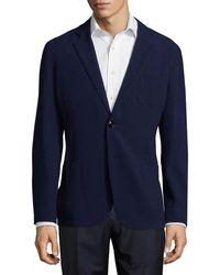 Giorgio Armani Upton Wool-blend Sport Coat - Blue