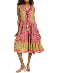 Raga Lennon Tiered Midi Dress - Pink