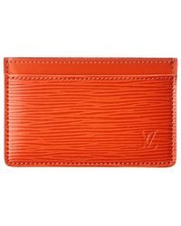 Louis Vuitton Orange Epi Leather Card Holder
