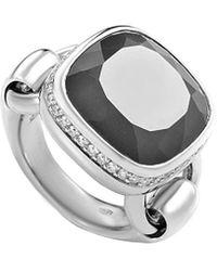 Poiray 18k 10.26 Ct. Tw. Diamond & Agate Ring - Metallic