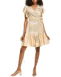 Raga Vienna Flutter Sleeve Dress - Pink