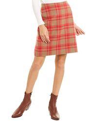 Max Mara Weekend Marmo Wool-blend Mini Skirt - Brown