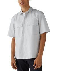 Club Monaco Lightweight Utility Shirt - Gray