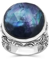 Stephen Dweck Silver 21.00 Ct. Tw. Gemstone Mother Of Pearl Ring - Metallic