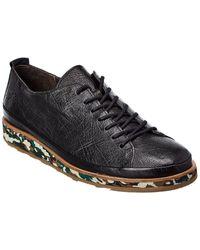 Fly London Jolm Leather Sneaker - Black