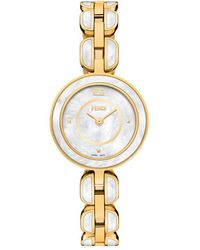 Fendi My Way Stainless Steel & Mother Of Pearl Bracelet Watch - Metallic
