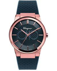 Ferragamo - Ferragamo Sapphire Watch - Lyst