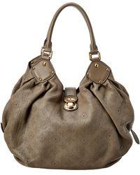 Louis Vuitton Taupe Mahina Leather Large Hobo - Multicolour